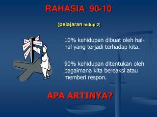 RAHASIA  90-10 (pelajaran  hidup 2)