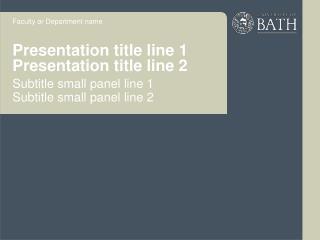 Presentation title line 1 Presentation title line 2