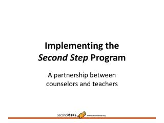 Implementing the  Second Step  Program