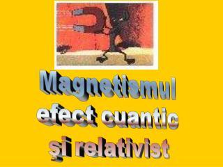 Magnetismul  efect cuantic  şi relativist