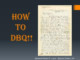 HOW  TO  DBQ!!