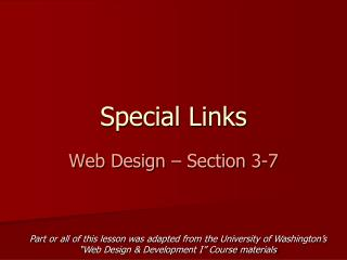 Special Links