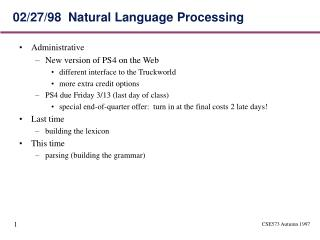 02/27/98  Natural Language Processing