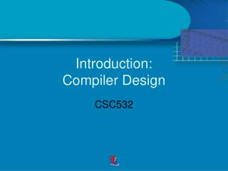 Introduction: Compiler Design