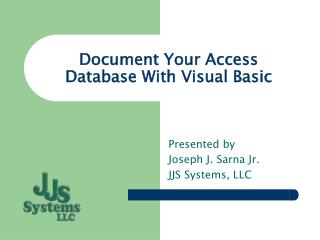 Document Your Access Database With Visual Basic