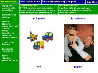 el juguete toy