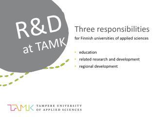 R&D at TAMK