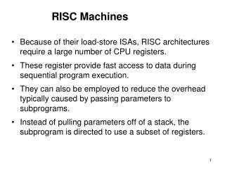 RISC Machines