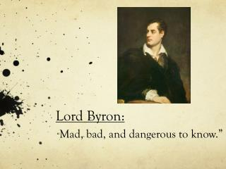 Lord Byron: