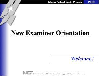 New Examiner Orientation