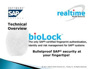 The only SAP -certified fingerprint authentication, identity and risk management for SAP  systems