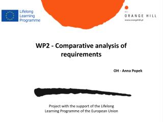 WP2  -  Comparative analysis  of  requirements OH - Anna Popek
