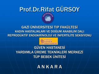 Prof.Dr.Rifat GÜRSOY