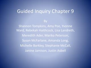 Guided Inquiry Chapter 9