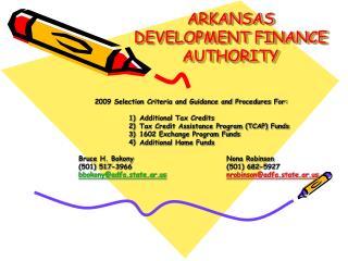 ARKANSAS DEVELOPMENT FINANCE AUTHORITY