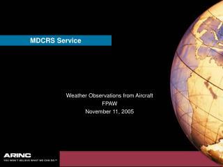 MDCRS Service