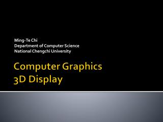 Computer Graphics 3D Display