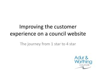 Improving the customer experience on a council website