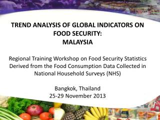 TREND ANALYSIS OF GLOBAL INDICATORS ON FOOD SECURITY: MALAYSIA