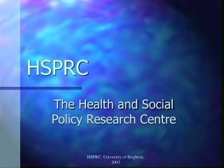 HSPRC