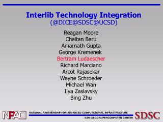 Interlib Technology Integration (@DICE@SDSC@UCSD)