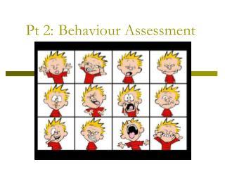 Pt 2: Behaviour Assessment