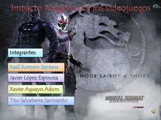 Impacto  Negativo de los videojuegos