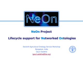 NeOn  Project  Lifecycle support for  Ne tworked  On tologies
