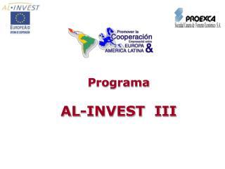 Programa AL-INVEST  III