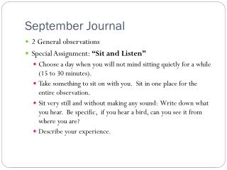 September Journal