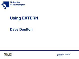 Using EXTERN