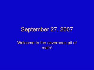 September 27, 2007