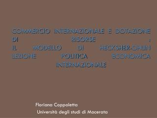 Floriana Coppoletta  Università degli studi di Macerata