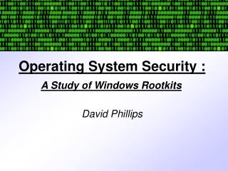 Operating System Security :