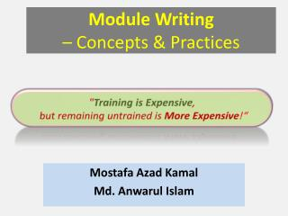 Module Writing – Concepts & Practices