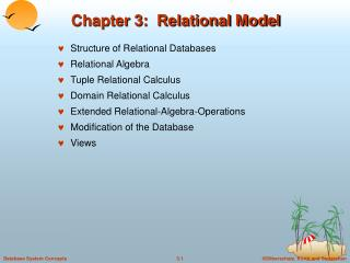 Chapter 3:  Relational Model