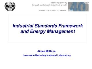 Industrial Standards Framework  and Energy Management