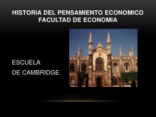 HISTORIA DEL PENSAMIENTO ECONOMICO FACULTAD DE ECONOMIA