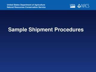 Sample Shipment Procedures