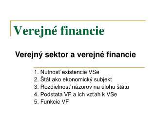 Verejné financie
