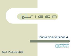 Innovazioni versione 4