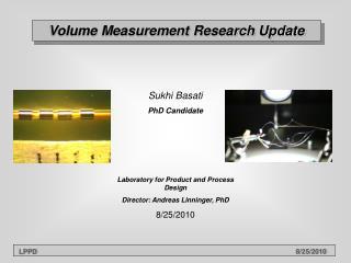 Volume Measurement Research Update
