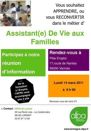 Assistant(e) De Vie aux Familles