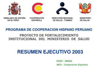 PROGRAMA DE COOPERACION HISPANO PERUANO