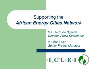 Supporting the African Energy Cities Network