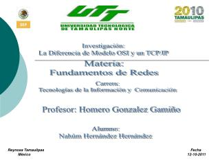 Investigación: La Diferencia de Modelo OSI y un TCP/IP