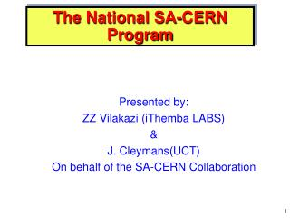 The National SA-CERN Program