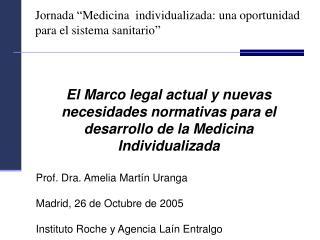 """Jornada """"Medicina  individualizada: una oportunidad para el sistema sanitario"""""""
