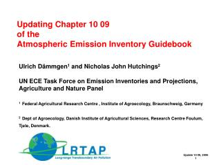 Updating Chapter 10 09  of the  Atmospheric Emission Inventory Guidebook