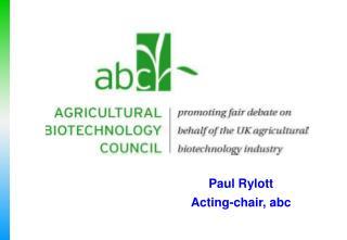 Paul Rylott Acting-chair, abc